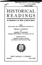 Cover of: Historical readings | Bennett, Helen Blanche