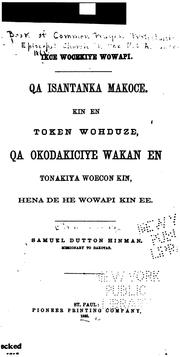 Cover of: Icke wocekiye wowapi | Protestant Episcopal church in the U. S. A. Book of common prayer. Dakota.