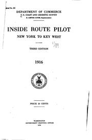 Cover of: Inside route pilot | United States. Coast and Geodetic Survey.