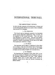 Cover of: International arbitration | William Evans Darby