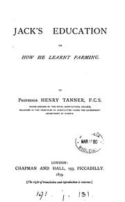 Cover of: Jack's education | Henry Tanner