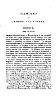 Cover of: Memoirs of George the Fourth | Robert Huish