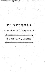 Cover of: Proverbes dramatiques de Carmontelle | Carmontelle, Louis Carrogis known as
