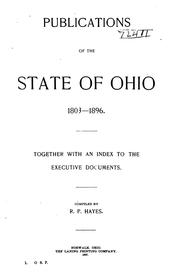 Cover of: Publications of the state of Ohio 1803-1896 | Rutherford Platt Hayes