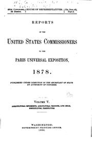 Cover of: Reports of the United States commissioners to the Paris universal exposition, 1878 | United States. Commission to the Paris exposition, 1878