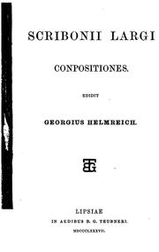Cover of: Conpositiones | Scribonius Largus