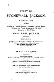 Cover of: Story of Stonewall Jackson | William C. Chase