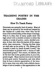 Cover of: Teaching poetry in the grades | Margaret Winifred Haliburton
