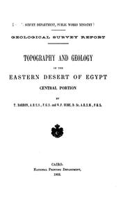 Cover of: Topography and geology of the Eastern desert of Egypt, central portion | Egypt. al-Masāḥah al-Jiyūlūjīyah al-Miṣrīyah