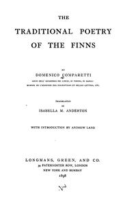 Cover of: The traditional poetry of the Finns | Domenico Pietro Antonio Camparetti