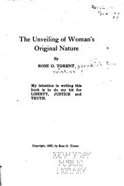 Cover of: The unveiling of woman's original nature | Anna Kristina Oleson