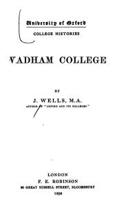 Cover of: Wadham college | Joseph Wells