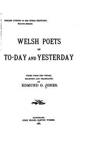 Cover of: Welsh lyrics of the XIXth century | Edmund Osborne Jones