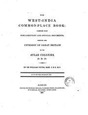 Cover of: The West-India common-place book | Young, William Sir, bart.