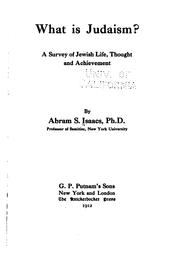 Cover of: What is Judaism? | Abraham Samuel Isaacs