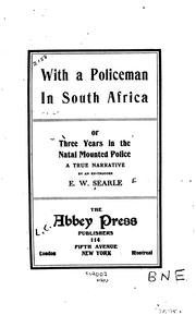 Cover of: With a police man in South Africa | Ernest W. Searle