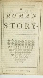 Cover of: A Roman story | Sir Richard Steele