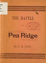 Cover of: The battle of Pea Ridge | J. H. Cook