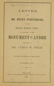 Cover of: Letter to Mr. Henry Whittemore, of the Rockland historical society | [Hamilton, Alexander] of Irvington, N.Y