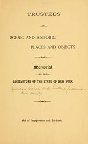 Cover of: Memorial to the Legislature of the state of New York | American Scenic and Historic Preservation Society.