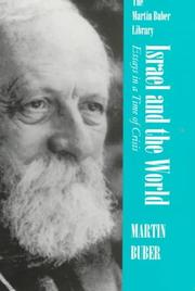 Cover of: Israel and the world by Martin Buber
