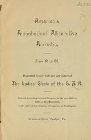 Cover of: America's alphabetical alliterative acrostic | J. H. Pershing