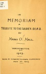 Cover of: In memoriam | Harry Orville Hall