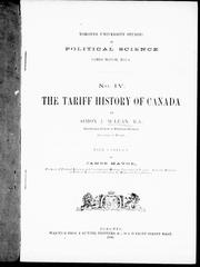 Cover of: The tariff history of Canada by McLean, Simon J.