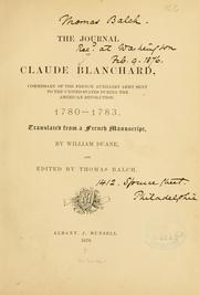 Cover of: The journal of Claude Blanchard | Claude Blanchard