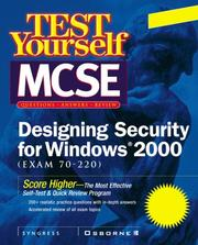 Cover of: Test yourself MCSE designing security for Windows 2000 (exam 70-220) | Chris Rima