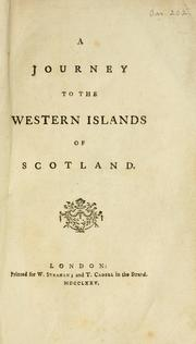 Cover of: A journey to the Western Islands of Scotland | Samuel Johnson