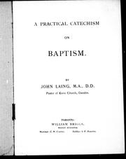 Cover of: A practical catechism on baptism by Laing, John