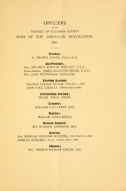 Cover of: Constitution | Sons of the American revolution. District of Columbia society.