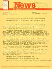 Cover of: News release dated June 30, 1982 by Boston Mayor.