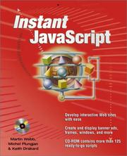 Cover of: Instant JavaScript | Martin Webb