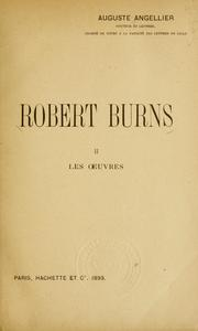 Cover of: Robert Burns by Auguste Angellier