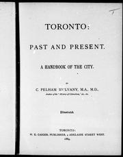 Cover of: Toronto, past and present | Charles Pelham Mulvany