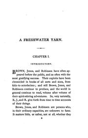 Cover of: A freshwater yarn, by William Brown, Henry Jones and John Robinson, ed. by capt. Brown | William Brown