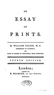 Cover of: An Essay on Prints by William Gilpin