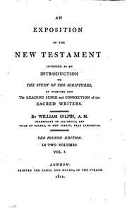 Cover of: An exposition of the New Testament | William Gilpin