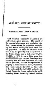 Cover of: Applied Christianity: Moral Aspects of Social Questions | Washington Gladden