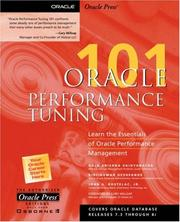 Cover of: Oracle performance tuning 101 | Gaja Krishna Vaidyanatha