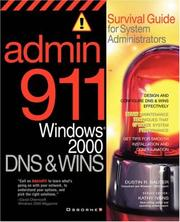 Cover of: Admin911 | Dustin Sauter