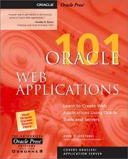 Cover of: Oracle Web applications 101 | Sten E. Vesterli