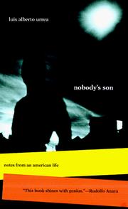 Cover of: Nobody's son by Luis Alberto Urrea