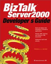 Cover of: BizTalk(tm) Server Developer's Guide | Peishu Li
