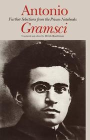 Cover of: Further selections from the prison notebooks | Antonio Gramsci