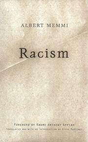 Cover of: Racism by Albert Memmi