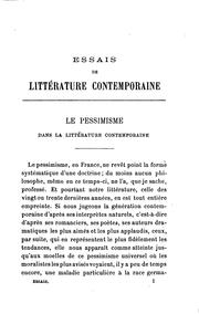 Cover of: Essais de littérature contemporaine | Georges Pellissier