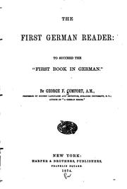 Cover of: The First German Reader | George F. Comfort